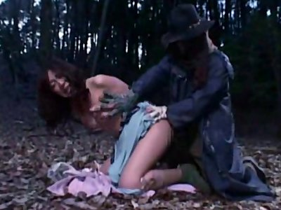 Helpless Woman fucked by a Zombie