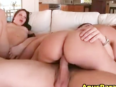 Alex Casio gets to fuck two amazing big part1