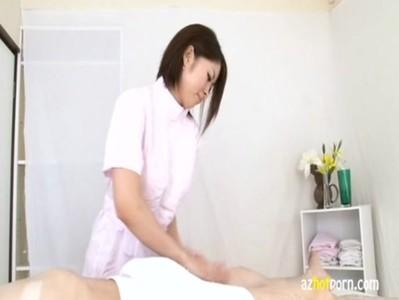 AzHotPorn.com - Handjob Milking Cleaning Semen