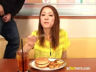 AzHotPorn.com - Semen in my Food