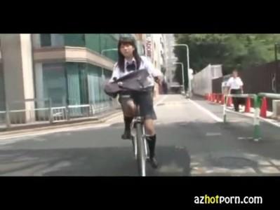 AzHotPorn.com - Asian High School Girls Bicycle Pleasure
