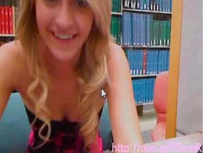 Veronica plays with webcam and dildo