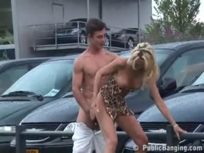 Porn on a public car parking
