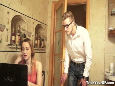 Trick Your GF - Farwell surprise fuck