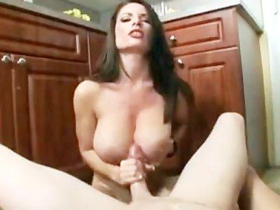 Beautiful Tit fuck and handjob
