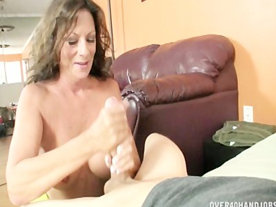 Step Mom Handjobs Big Cock