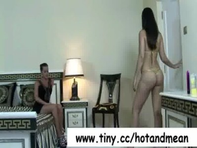 Hot and Mean - Lesbian Babes Kissing Tender