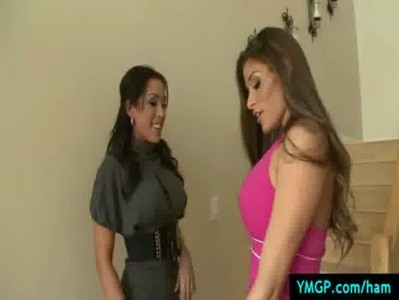 Hot and MEAN - Big tit lesbians fucking each other hardcore 20