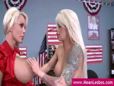 Hot and Mean - Big Breasted Lesbians Punished clip-09