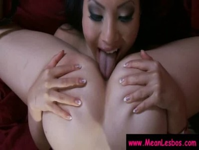 Hot and Mean Busty Lesbians Get Punished Hard 09