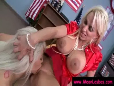 Hot and Mean Busty Lesbians Get Punished Hard 15